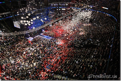 John McCain 2008 Republican National Convention Balloon Drop Photos
