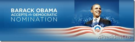 Barack Obama Accepts The Democratic Nomination