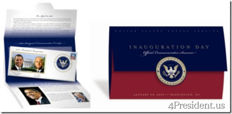 The Official Inauguration Commemorative Souvenir Brought to You By the United States Postal Service