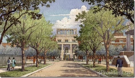 Institute Entry Approach. Courtesy George W. Bush Presidential Center