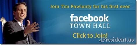 Tim Pawlenty Facebook Townhall
