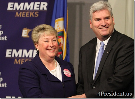Tom Emmer and Annette Meeks