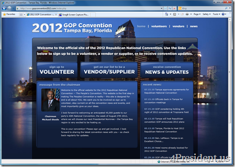 2012 Republican National Convention Website