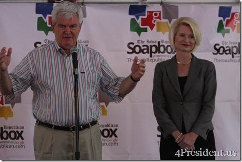 Newt Gingrich Iowa Straw Poll Photos