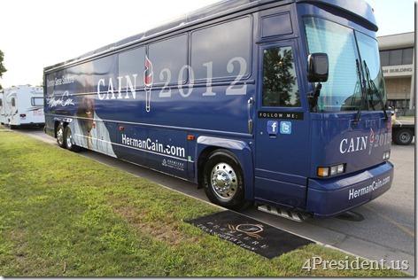 Herman Cain Iowa Straw Poll Photos