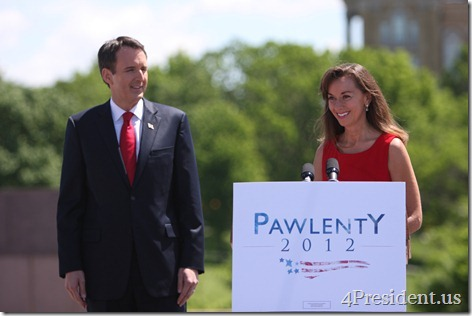 Tim & Mary Pawlenty 2012 Presidential Campaign Iowa Announcement Photos