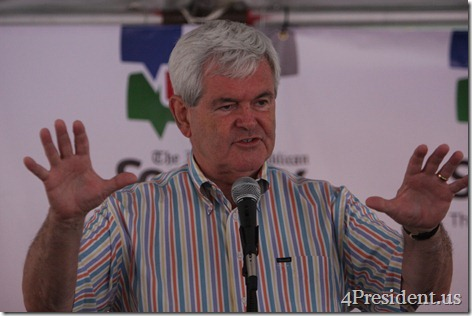 Newt Gingrich Iowa Straw Poll Photos