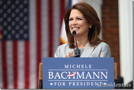 Michele Bachmann 2012 Announcement Photo Waterloo, Iowa June 27, 2011