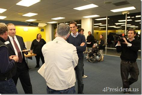 Josh Romney At Mitt Romney Iowa Headquarters Photos November 30, 2011 #iacaucus