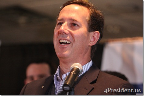 "Rick Santorum ""Rally With Rick"" Hudson, Wisconsin Photos March 30, 2012 1 of 2"