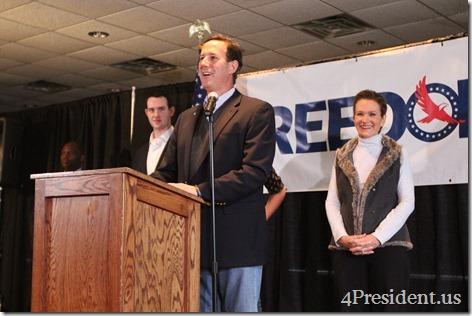"Rick Santorum ""Rally With Rick"" Hudson, Wisconsin Photos March 30, 2012 2 of 2"