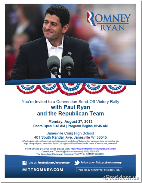 Paul Ryan Janesville Convention Sendoff