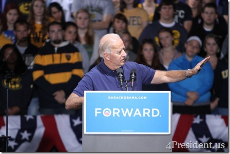 Joe Biden University of Wisconsin Eau Claire Photos, September 13, 2012