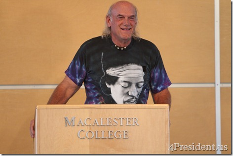 Jesse Ventura Photos, Rally for Jobs, Opportunity, and Diversity, Macalester College, St. Paul, Minnesota, September 21, 2012