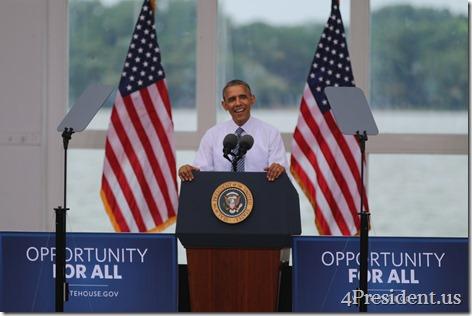 President Barack Obama, Lake Harriet, Minneapolis, Minnesota, June 27, 2014 IMG_3895