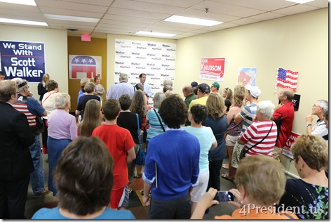 Scott Walker, Hudson, Wisconsin Victory Center Photos, July 22, 2014 IMG_4480
