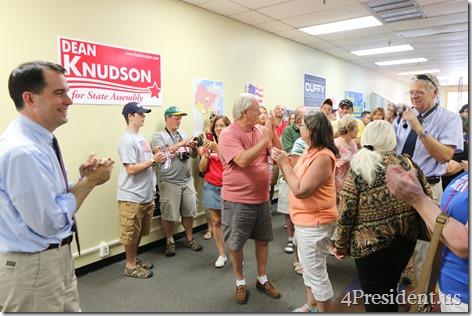Scott Walker, Hudson, Wisconsin Victory Center Photos, July 22, 2014 IMG_4460