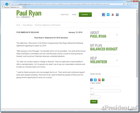 paul ryan 011215 press release