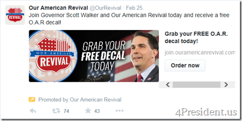our american revival 022715 twitter ad decal