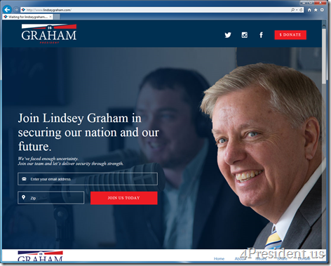 Lindsey Graham 2016 Presidential Campaign Website Now Online