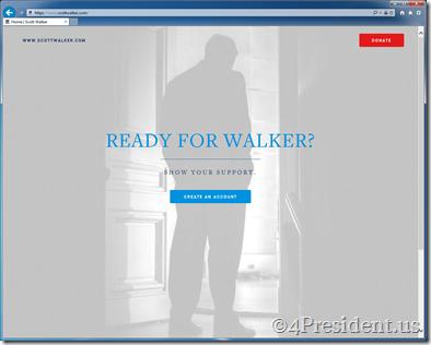 "Scott Walker 2016 ""Testing the Waters"" Website Now Online"