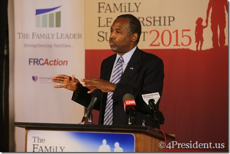 Ben Carson Photos, THE FAMiLY LEADERSHIP SUMMIT, July 18, 2015, Ames, Iowa #FLS2015 IMG_4570