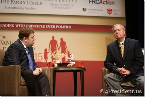 Lindsey Graham Photos, THE FAMiLY LEADERSHIP SUMMIT, July 18, 2015, Ames, Iowa #FLS2015 IMG_4885