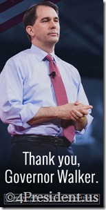 "Unintimidated PAC ""Thank you, Governor Walker"" 2016 Campaign Blog Ads in 300x250 and 300x600 Sizes"