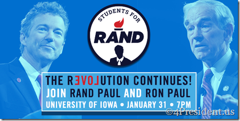 Rand Paul and Ron Paul Iowa City