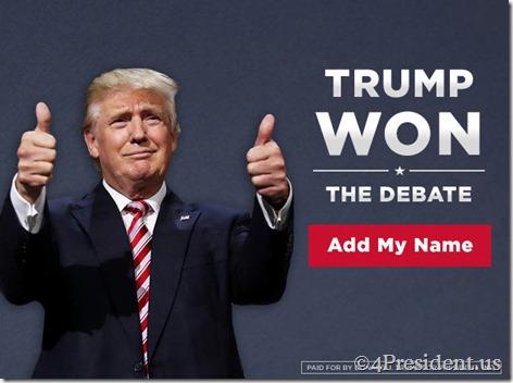 donald trump 092716 blogad 640x480 trump won debate politico