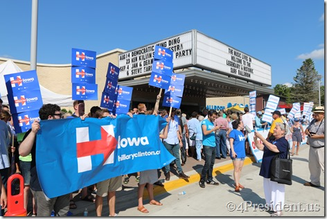 Hillary Clinton Photos, Iowa Democratic Wing Ding Dinner, Clear Lake, Iowa, August 14, 2015 #WingDing IMG_9943