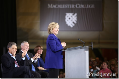 Hillary Rodham Clinton's Grassroots GOTV Event in support of at Macalester College, St. Paul IMG_7620