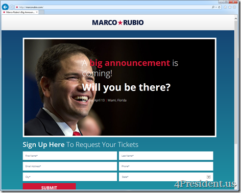 Marco Rubio March 30, 2015 Website