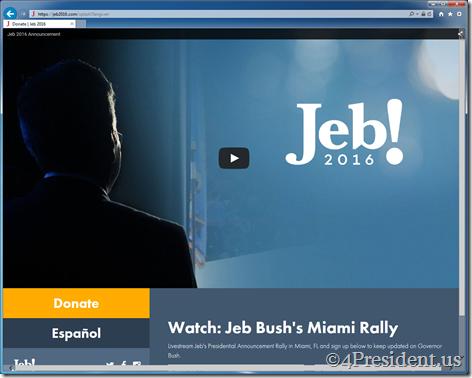 Jeb Bush 2016 Presidential Campaign Announcement Speech Livestream
