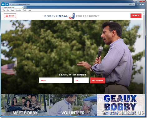 Bobby Jindal 2016 Presidential Campaign Website Now Online
