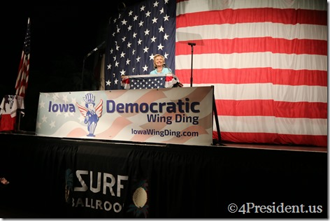 Hillary Clinton Photos, Iowa Democratic Wing Ding Dinner, Clear Lake, Iowa, August 14, 2015 #WingDing IMG_9998