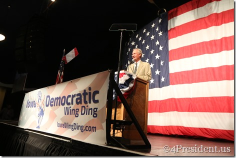 Lincoln Chafee Photos, Iowa Democratic Wing Ding Dinner, Clear Lake, Iowa, August 14, 2015 #WingDing IMG_0046