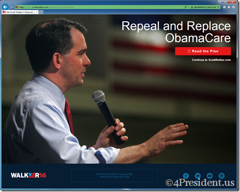 scott walker 081815 splash repeal obamacare