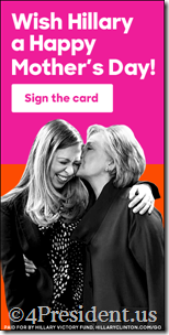 hillary clinton 050816 blogad 300x600 mother's day politico