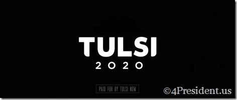 tulsi 2020 video logo