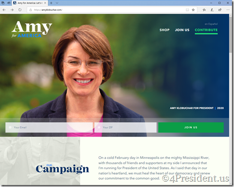 amy klobuchar 021019 home