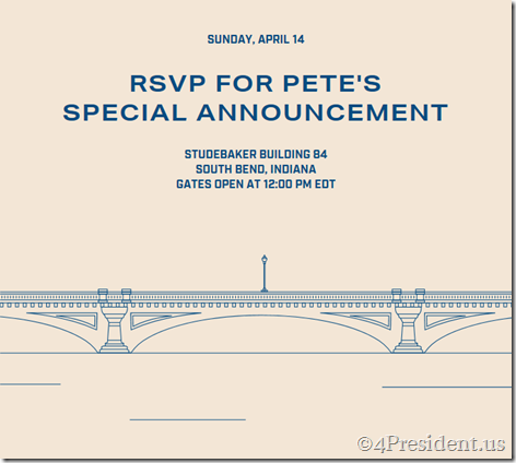 pete buttigieg rsvp april 14