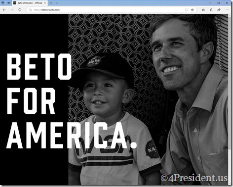 beto orourke 031419 splash