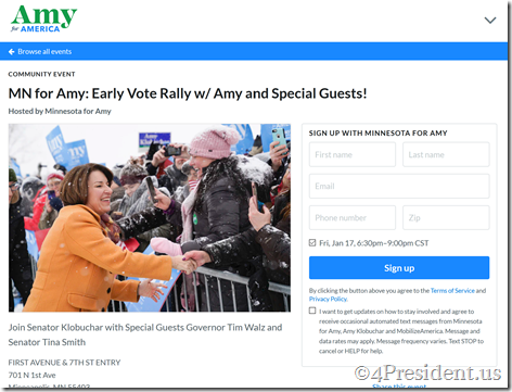 amy early vote rally