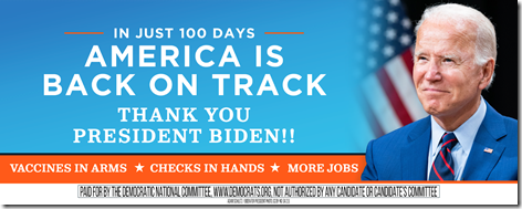 Joe Biden 100 Days Billboard