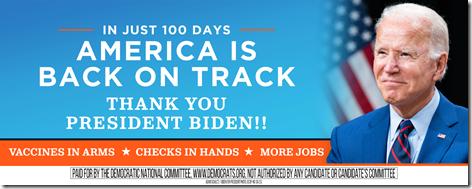 Joe Biden 100 Days Billboard