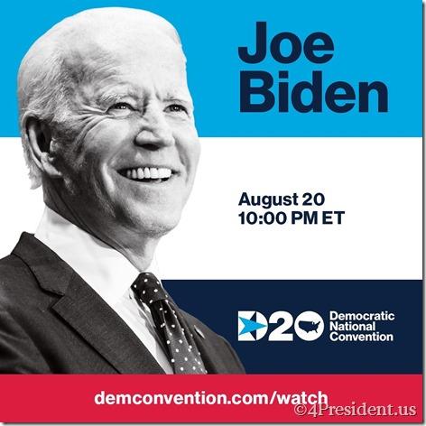 Joe Biden August 20 DNC